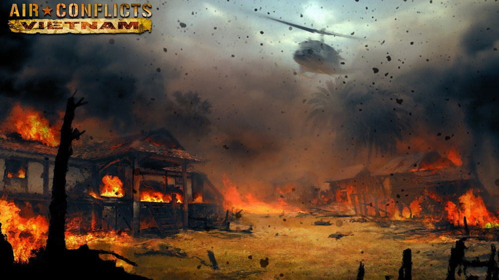 Air Conflicts: Vietnam napalm attack art