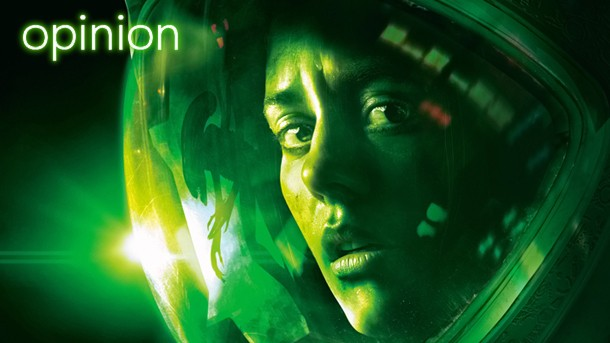 Alien Isolation picture with opinion text overlaid
