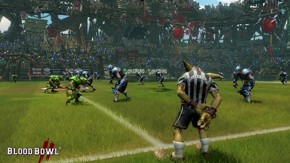 Dynamic camera angles in Blood Bowl II