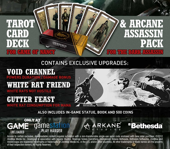 Take a look at the Dishonored pre-order content!