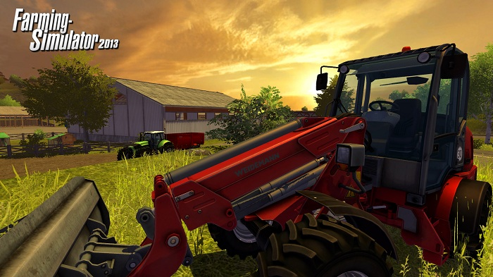 farming at dusk