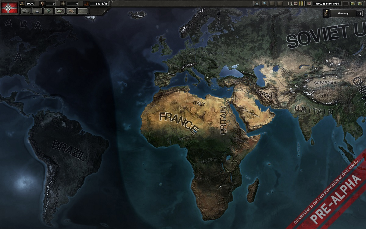 wip map view from Hearts of Iron IV