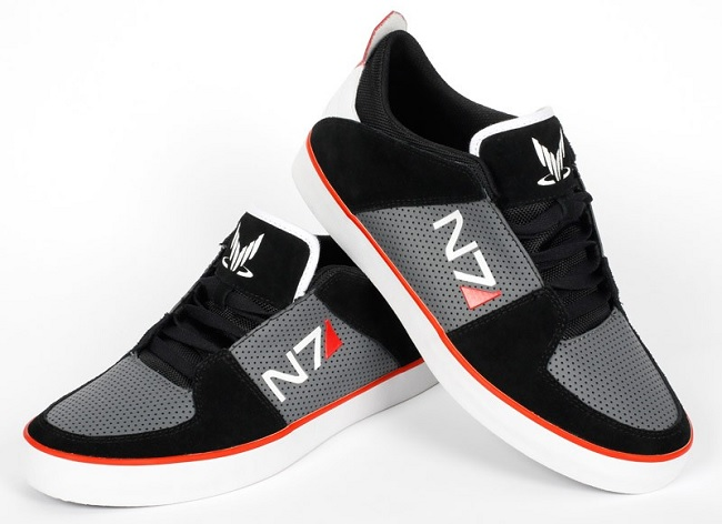 check out these lovely mass effect n7 sneakers
