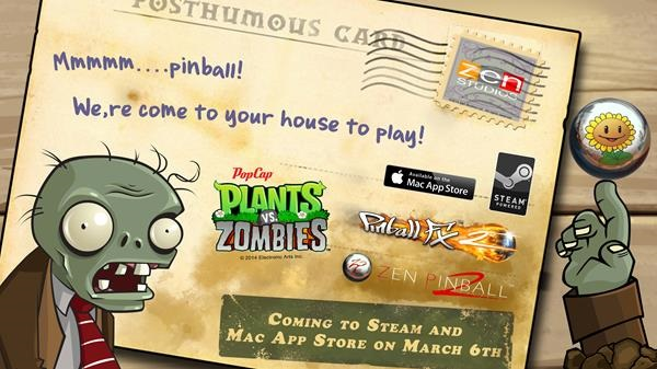 They're coming... PvZ crawls to Pinball FX2
