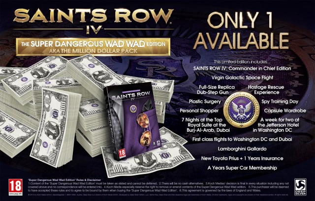 Check out the Saints Row IV Super Dangerous Wad Wad Edition