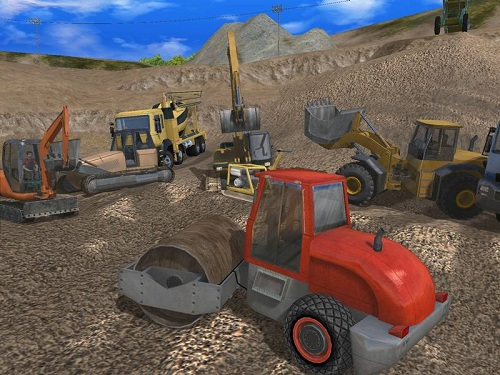 Digger Simulator 2011 boasts a uniquely modelled ground system