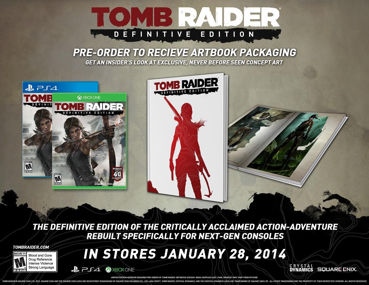tomb raider definitive edition pre-order bonus
